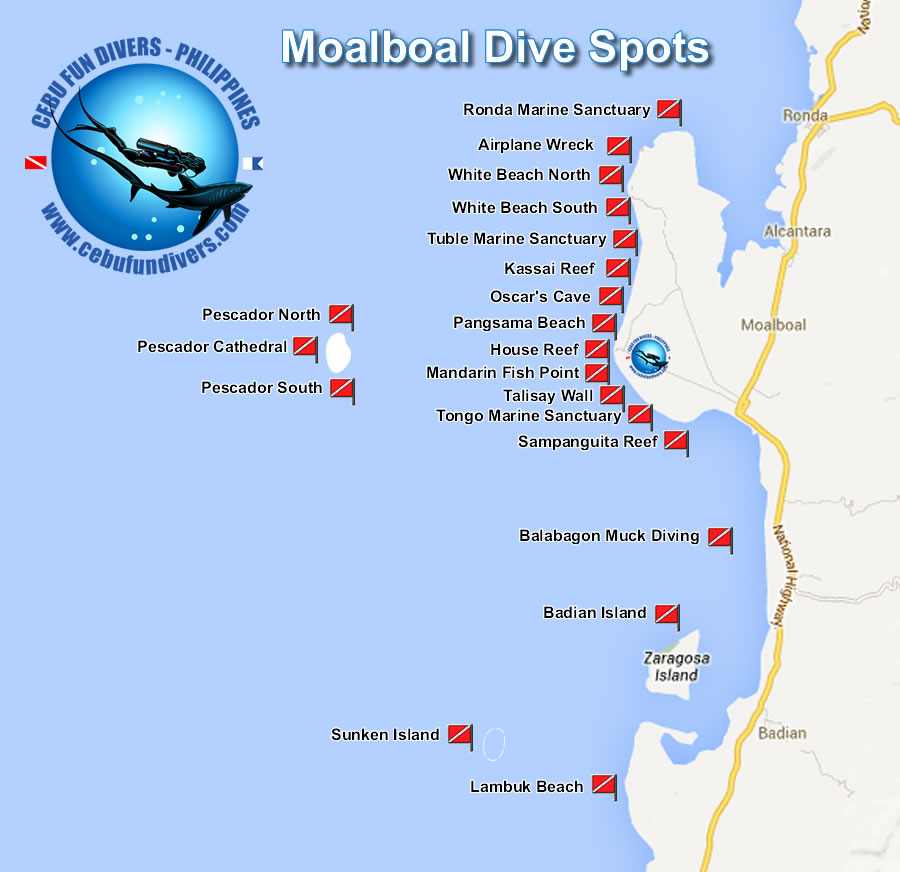 Dive Sites of Moalboal
