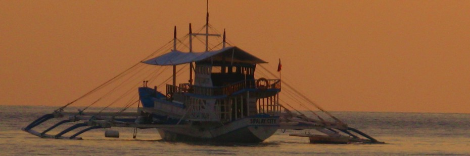 Sunset at Dive Safari in the Philippines
