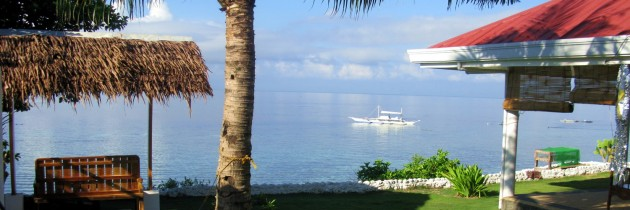 Seaview from Elma's Bungalow in Moalboal, Cebu