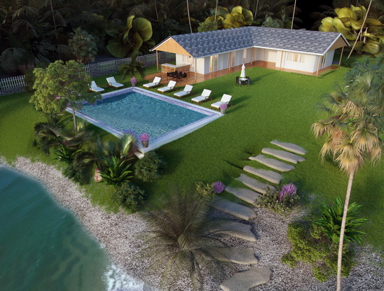 New dive center with swimming pool by the sea